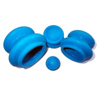 Банки массажные резиновые (синие) 4 шт