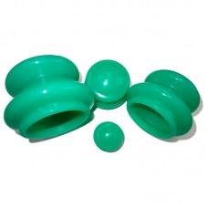 Банки массажные силиконовые (зеленые) 4 шт
